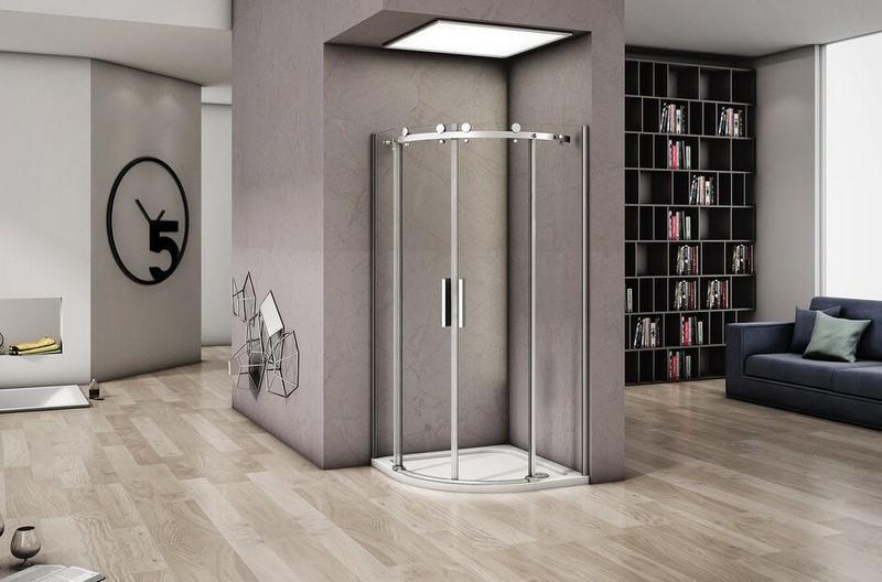 Душевой уголок Good Door ALTAIR R-TD-100-C-CH раздвижные дверцы, без поддона