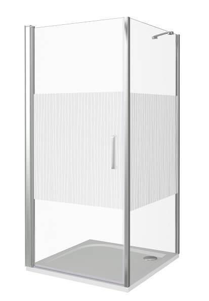 Душевой уголок Good Door PANDORA CR-100-T-CH распашная дверца с узором