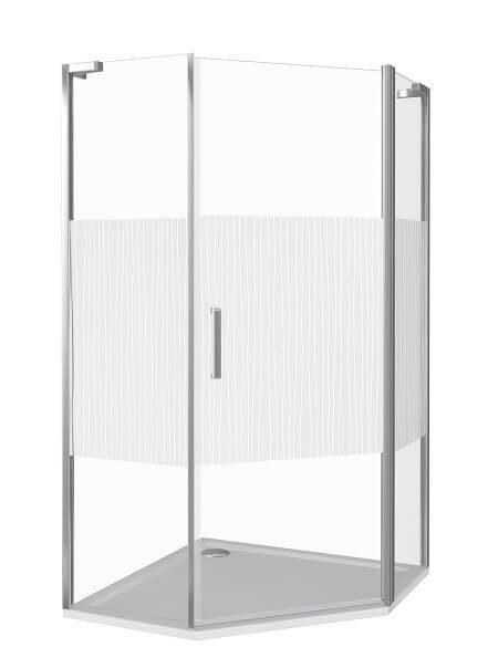 Душевой уголок Good Door PANDORA PNT-100-T-CH распашная дверь с узором