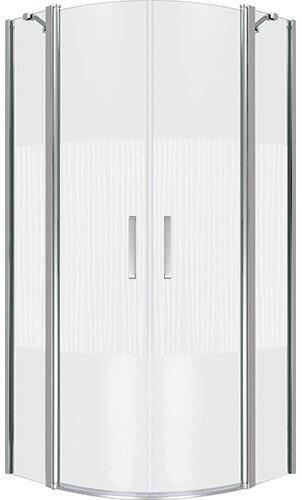 Душевой уголок Good Door PANDORA R-100-T-CH распашная дверь с рисунком