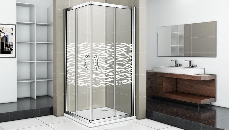 Душевой уголок Good Door INFINITY CR-90-W-CH стекла с рисунком