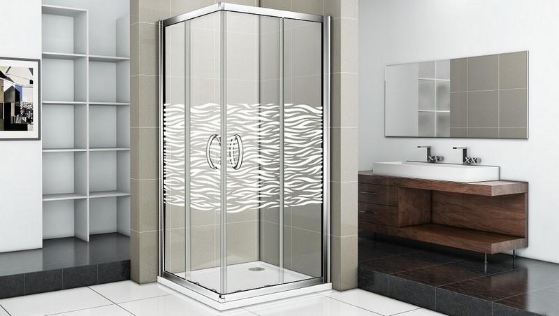 Душевой уголок Good Door INFINITY CR-100-W-CH стекла с рисунком