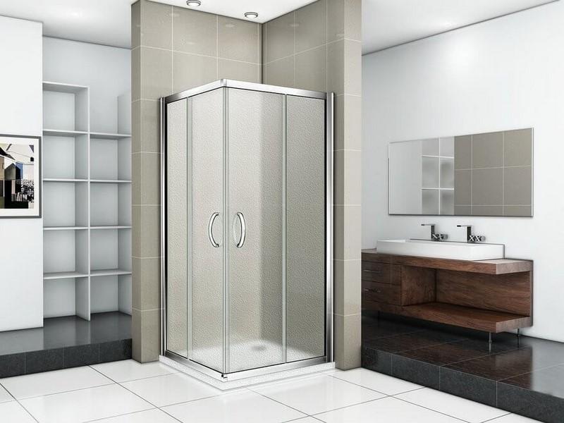 Душевой уголок Good Door INFINITY CR-90-G-CH квадратный, матовые стенки
