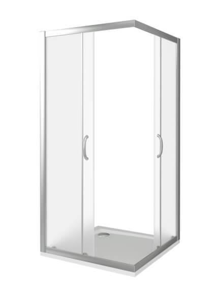 Душевой уголок Good Door INFINITY CR-100-G-CH квадратный, матовые стенки