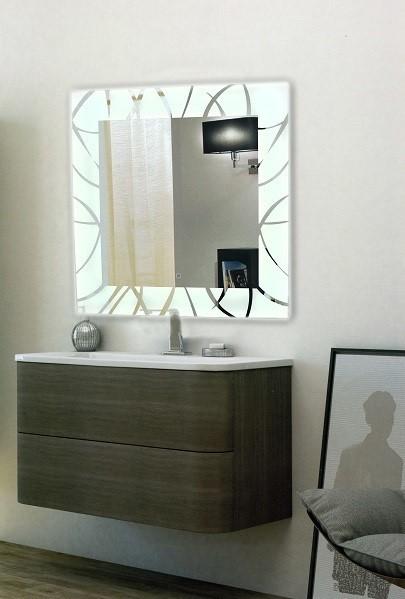 Зеркало Niagara Allegro 77х77 c LED-подсветкой и сенсором
