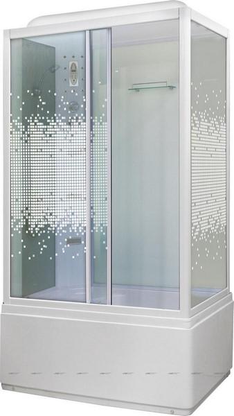 Душевая кабина Niagara NG-307-01L 120х80 см с мозаичными стеклами