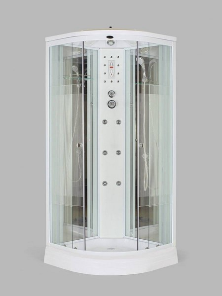Душевая кабина Niagara NG-7012-01 120х120 см со стеклами в полоску