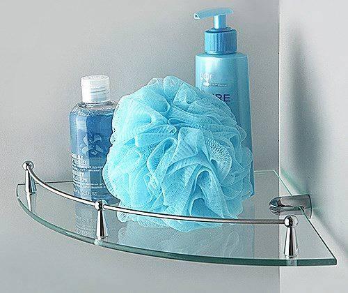 Полка в ванную WasserKRAFT K-544 стеклянная угловая