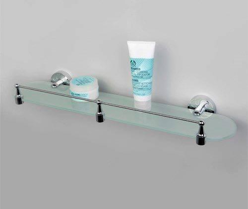 Полка в ванную WasserKRAFT Isen K-4044 стеклянная с бортиком