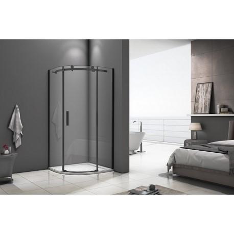 Душевое ограждение Good Door Galaxy R-100-C-B 100х100 см, черный профиль