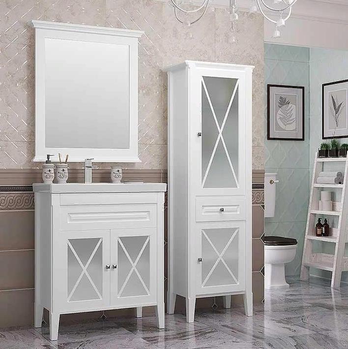 Мебель Опадирис ПАЛЕРМО 80 цвет: белый матовый (Массив бука)