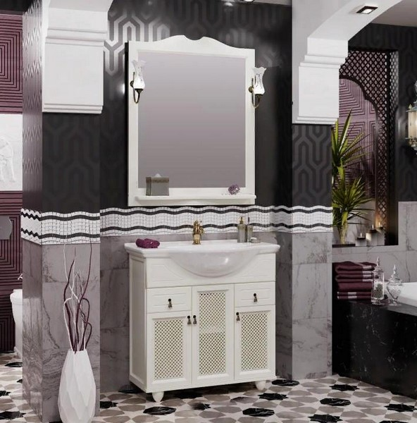 Мебель Опадирис ТИБЕТ 80 с решеткой цвет: слоновая кость (Массив бука)