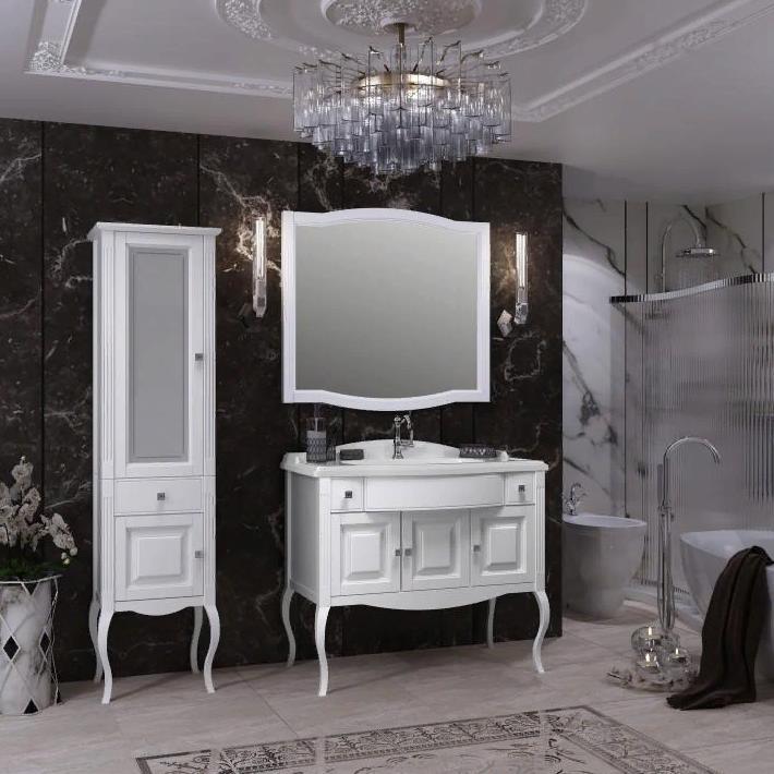 Мебель Опадирис ЛАУРА 100 цвет: белый матовый (Массив бука)