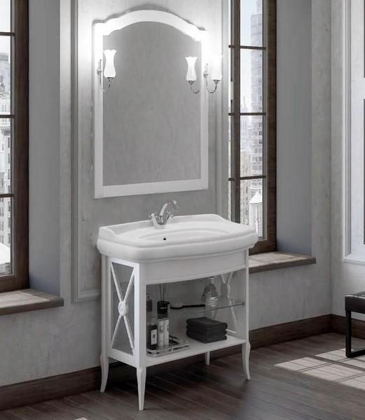 Мебель Опадирис Империал 80 цвет: белый матовый (Массив бука)