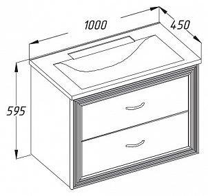 Комплект мебели Opadiris Карат 100золотая патина (МДФ)