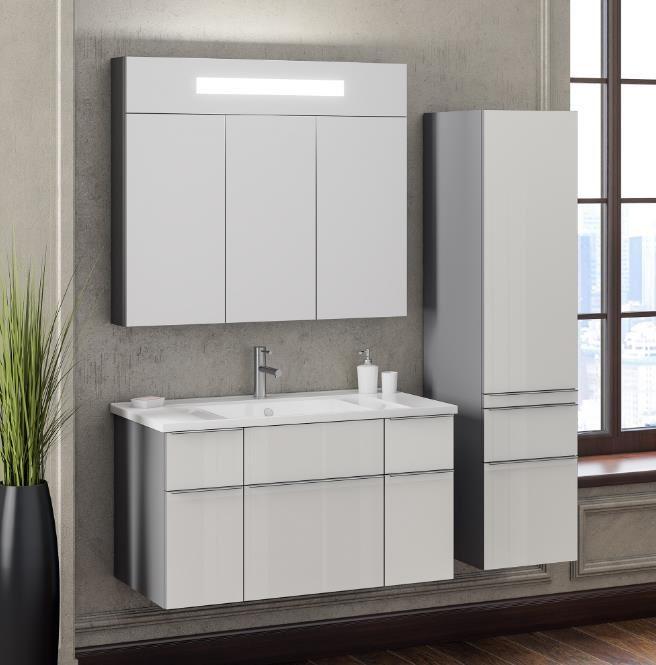 Мебель Опадирис Кристалл 90 белый (МДФ)