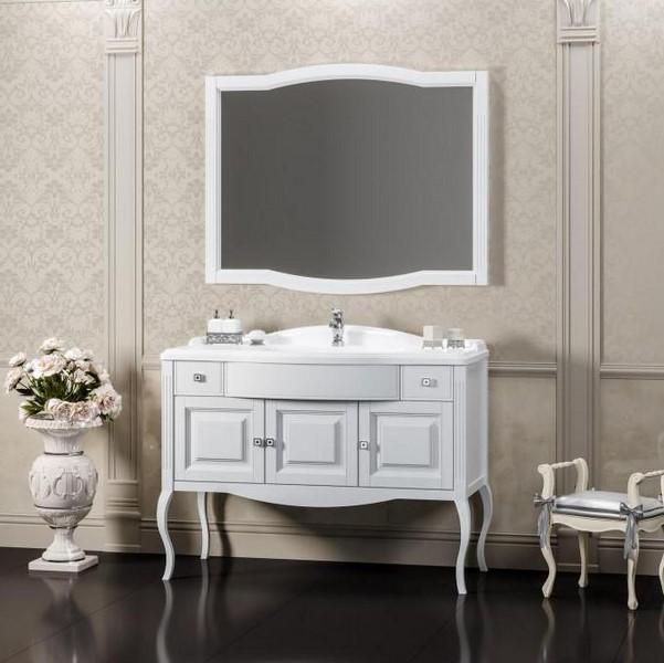 Мебель Опадирис ЛАУРА 120 цвет: белый матовый (Массив бука)