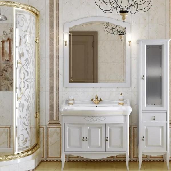 Мебель Опадирис ЛОРЕНЦО 100 цвет: белый матовый (Массив бука)