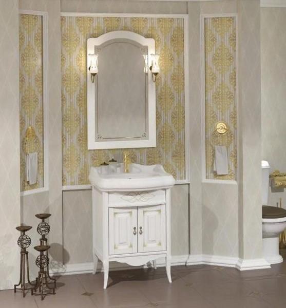 Мебель Опадирис ЛОРЕНЦО 60 цвет: белый матовый с патиной (Массив бука)