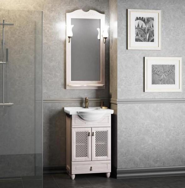 Мебель Опадирис ТИБЕТ 50 с решеткой цвет: беленый бук (Массив бука)