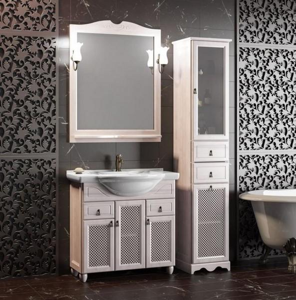 Мебель Опадирис ТИБЕТ 80 с решеткой цвет: беленый бук (Массив бука)