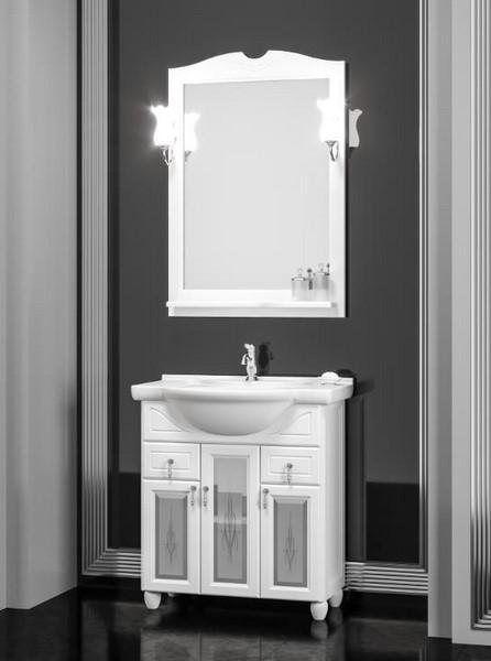 Мебель Opadiris ТИБЕТ 70 со стеклом Цвет: белый 9003 (Массив бука)