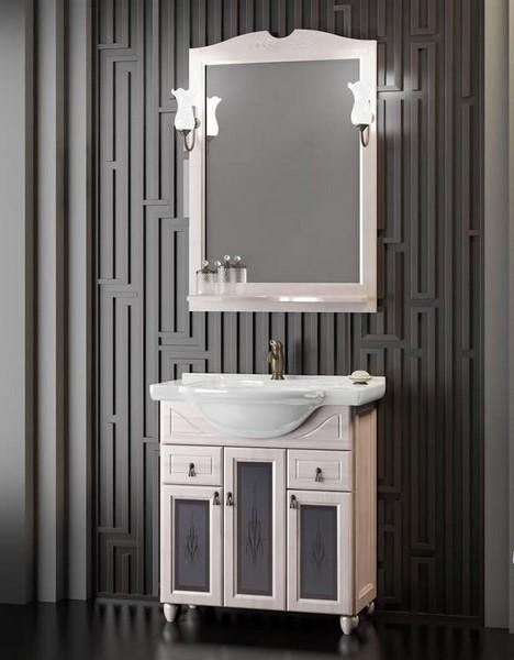 Мебель Opadiris ТИБЕТ 70 со стеклом Цвет: белый Weiss (Массив бука)